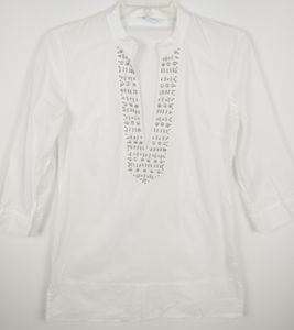 New York & Company tunic blouse with jeweled front